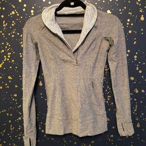 Lululemon Grey 1/2 Zip Long Sleeve